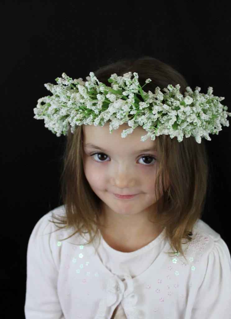 Best ideas about Baby'S Breath Flower Crown . Save or Pin Baby s Breath flower crown – Detail Wedding Design Now.