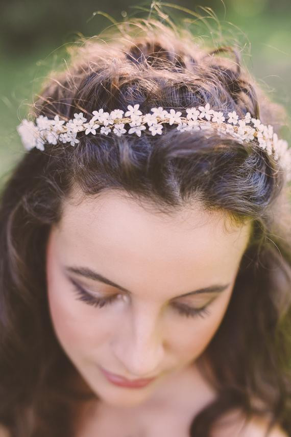 Best ideas about Baby'S Breath Flower Crown . Save or Pin babys breath flower crown bridal flower crown wedding floral Now.