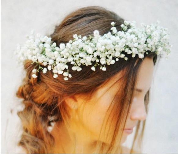 Best ideas about Baby'S Breath Flower Crown . Save or Pin Babies Breath Flower Crown Good Old Days Florist Now.