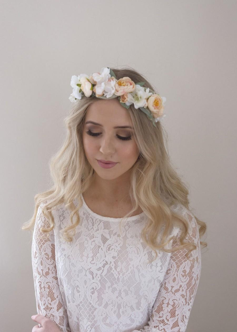 Best ideas about Baby'S Breath Flower Crown . Save or Pin Blush Flower Crown Bridal Floral Halo Baby s Breath Now.