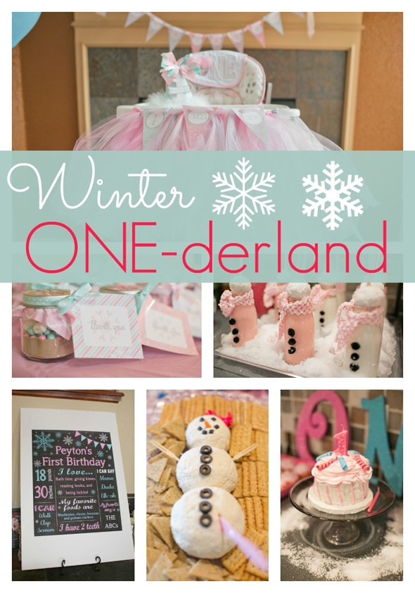 Best ideas about Baby'S First Birthday Gift Ideas . Save or Pin Winter ONE derland First Birthday Pretty My Party Now.