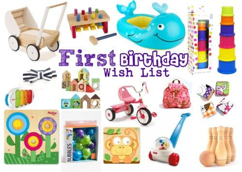 Best ideas about Baby'S First Birthday Gift Ideas . Save or Pin First Birthday Gift Wish List the perfect t guide for Now.