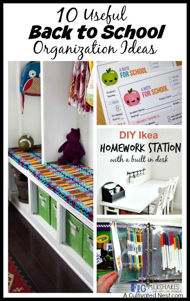 Back To School DIY Organization  10 Useful Back to School Organization Ideas
