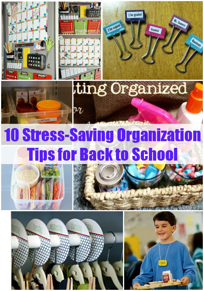 Back To School DIY Organization  10 Stress Saving Organization Tips for Back to School