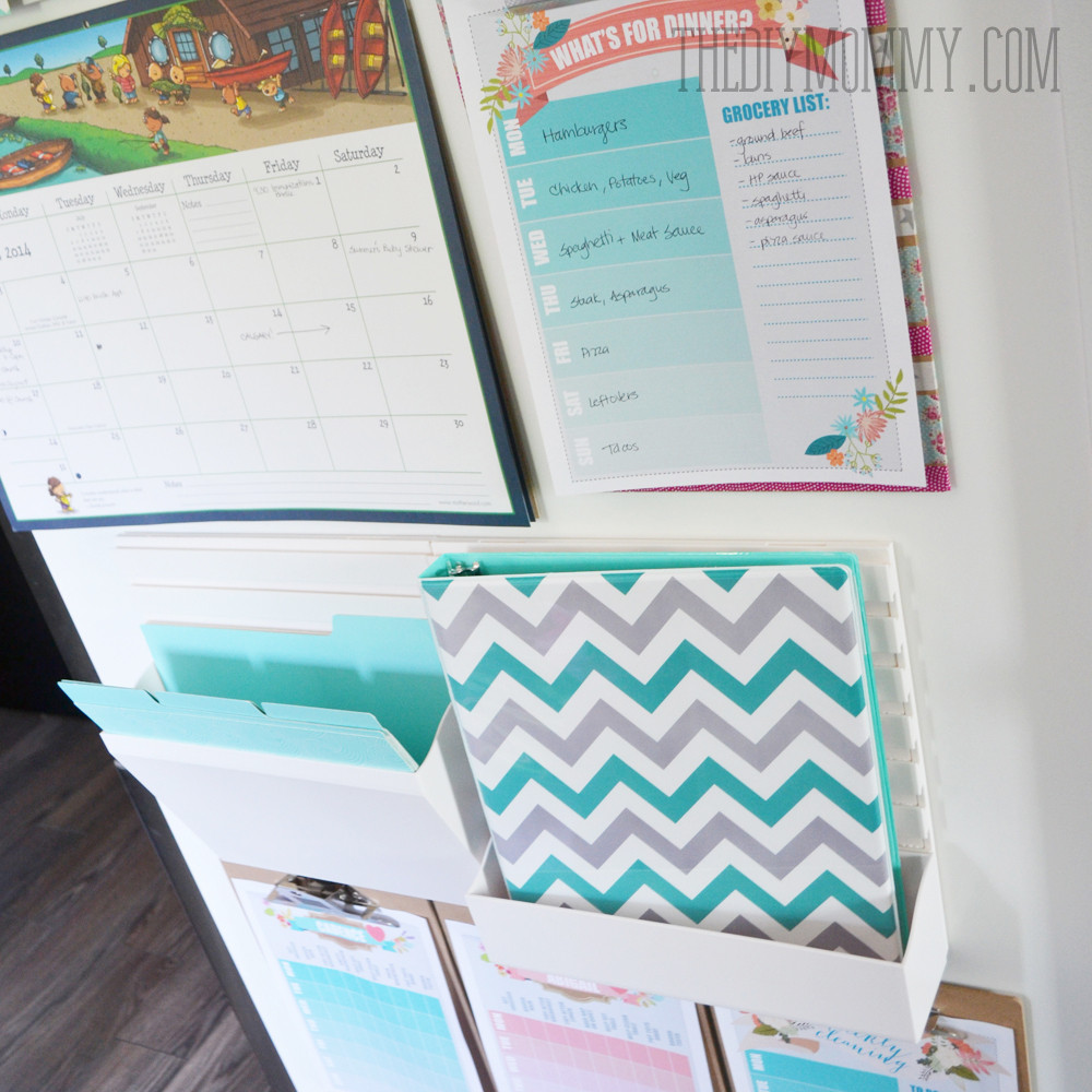 Back To School DIY Organization  DIY Back To School Kitchen mand Centre from Staples