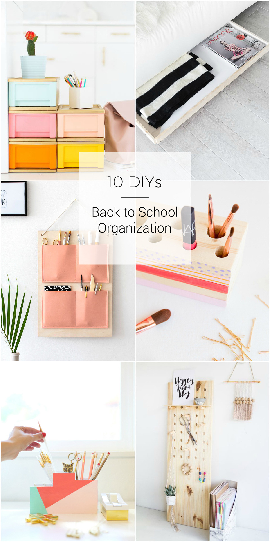 Back To School DIY Organization  10 DIY Ideas for Back to School Organization
