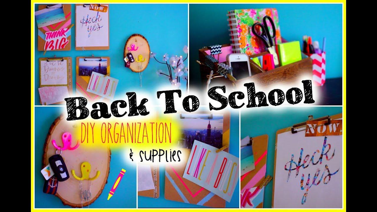 Back To School DIY Organization  Back to School DIY Organization & Supplies