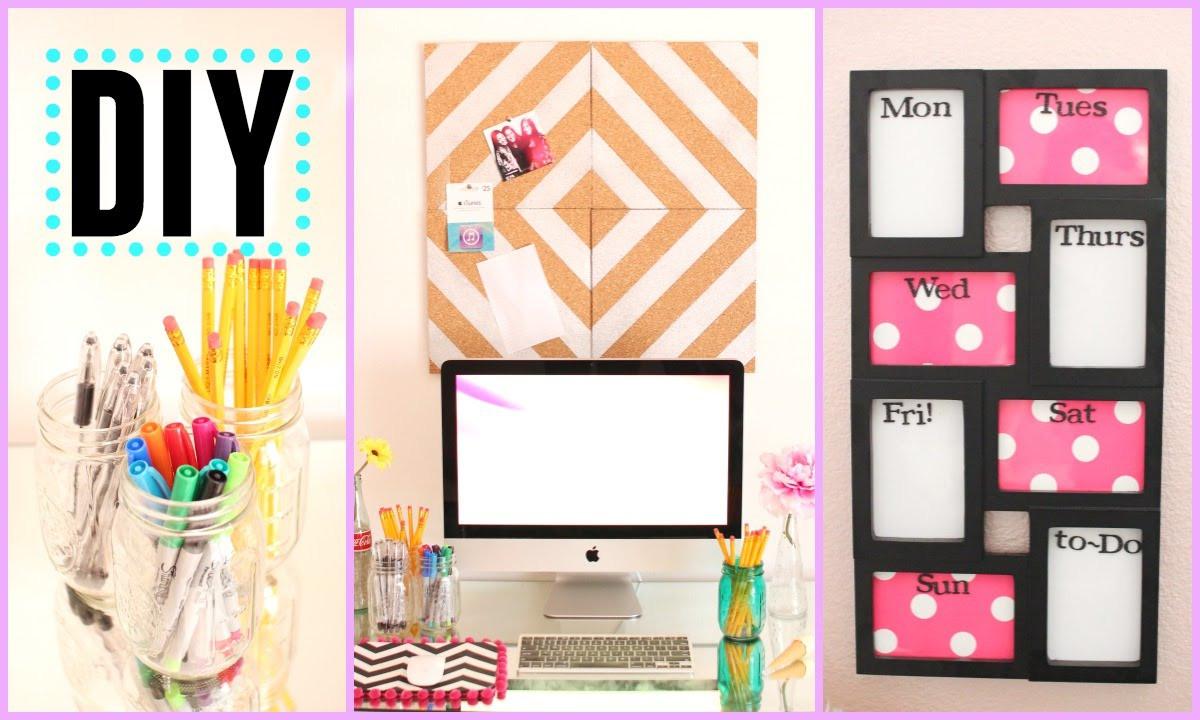 Back To School DIY Organization  DIY Back to School Room Decor & Organization Pink and