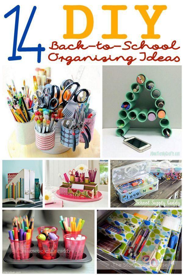 Back To School DIY Organization  14 DIY Back to School Organizing Ideas – Lesson Plans
