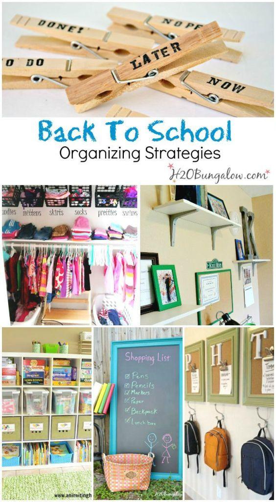 Back To School DIY Organization  Back To School Organizing Ideas