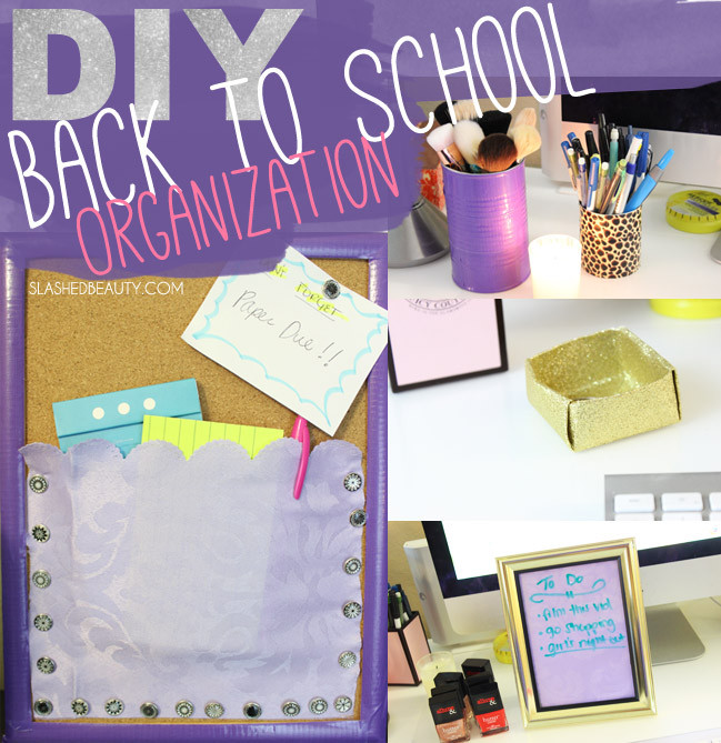 Back To School DIY Organization  Back to School DIY Organization Ideas