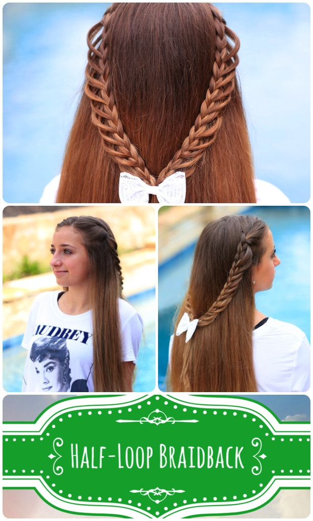Back To School Hairstyles Braids  Half Loop Braidback Back to School Hairstyles