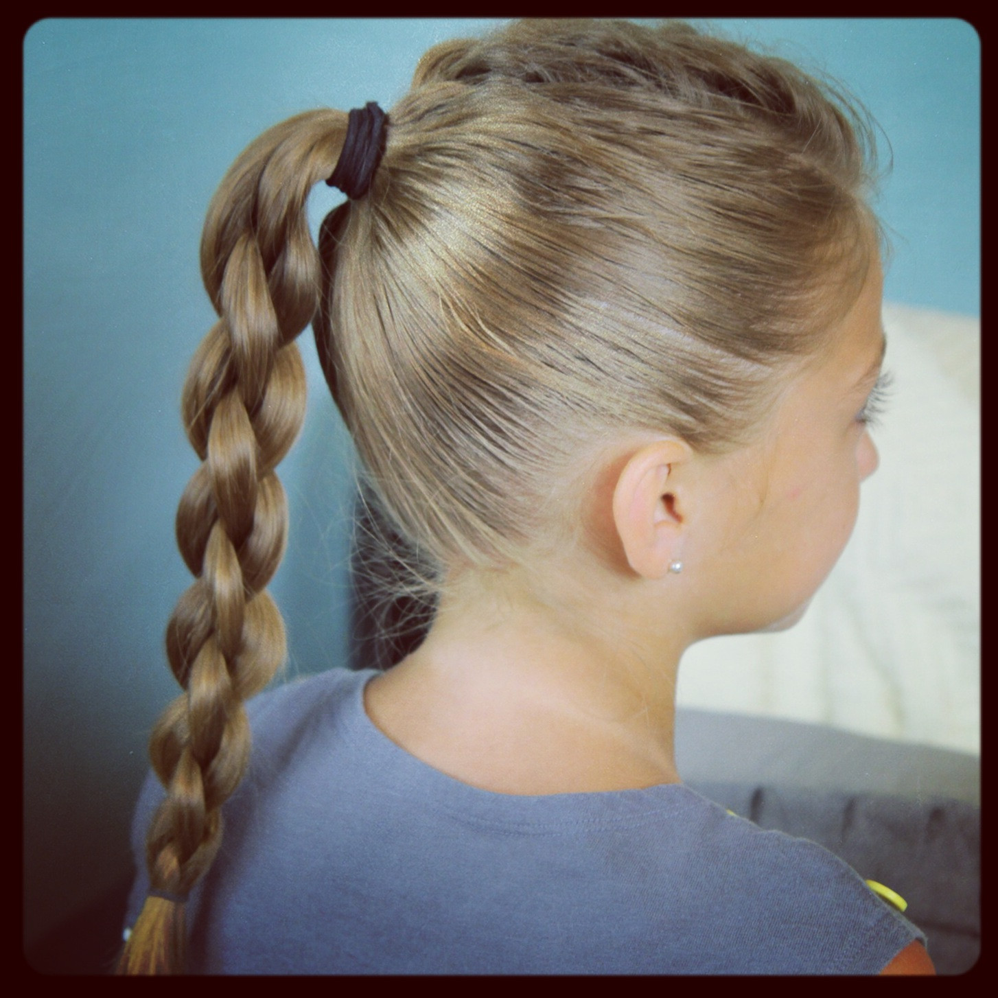 Back To School Hairstyles Braids  Single Frenchback into Round Braid