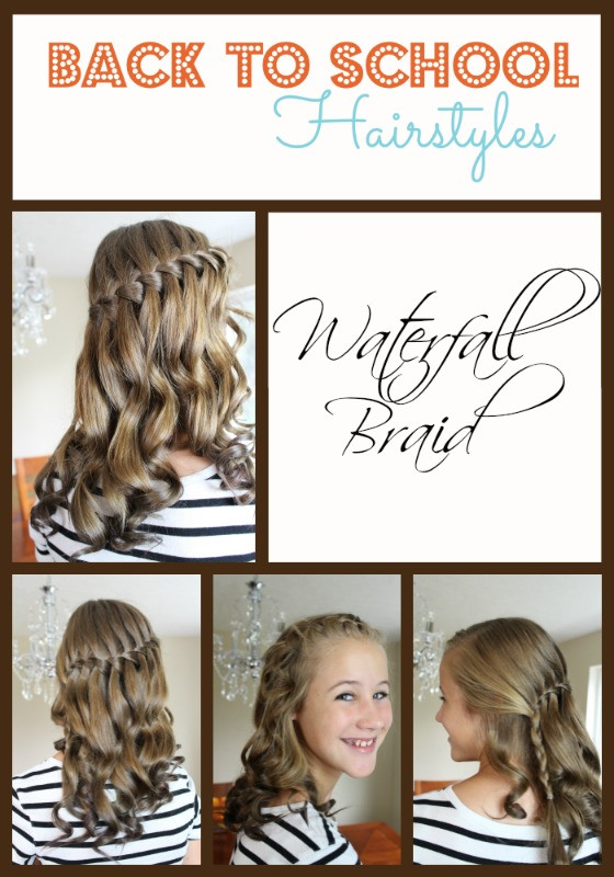 Back To School Hairstyles Braids  Back to School Hairstyles Waterfall Braid