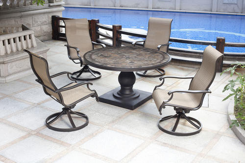 Best ideas about Backyard Creations Patio Furniture . Save or Pin Backyard Creations Murano 5 Piece Patio Collection at Menards Now.