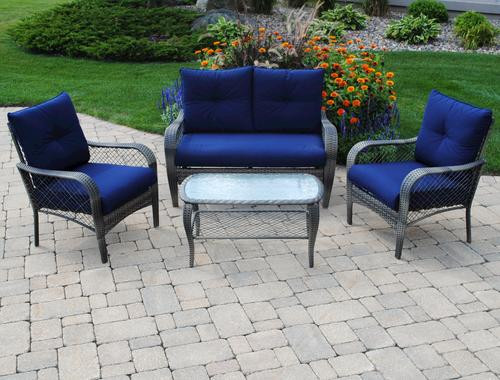 Best ideas about Backyard Creations Patio Furniture . Save or Pin Backyard Creations 4 Piece Aspen Seating Collection at Now.