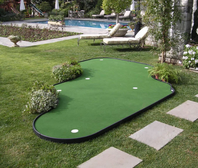 Best ideas about Backyard Putting Green . Save or Pin 28 Outdoor & Indoor Putting Greens & Mats Designs & Ideas Now.