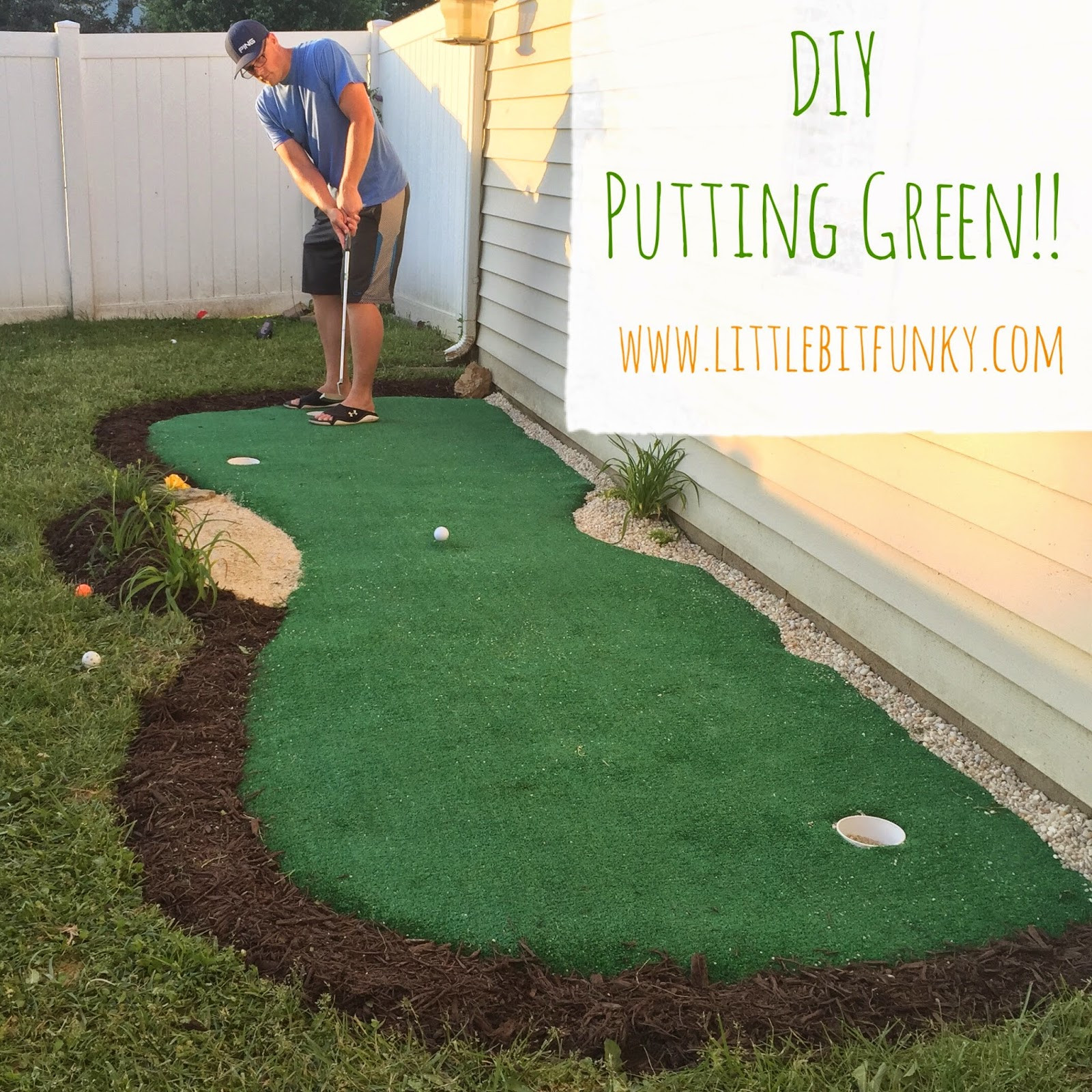 Best ideas about Backyard Putting Green . Save or Pin Little Bit Funky How to make a backyard putting green Now.