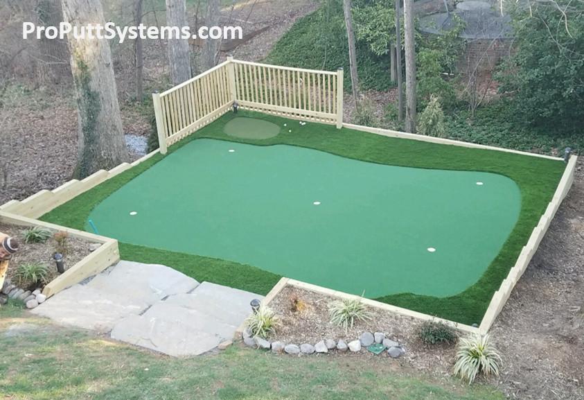 Backyard Putting Green DIY  Do It Yourself Putting Greens