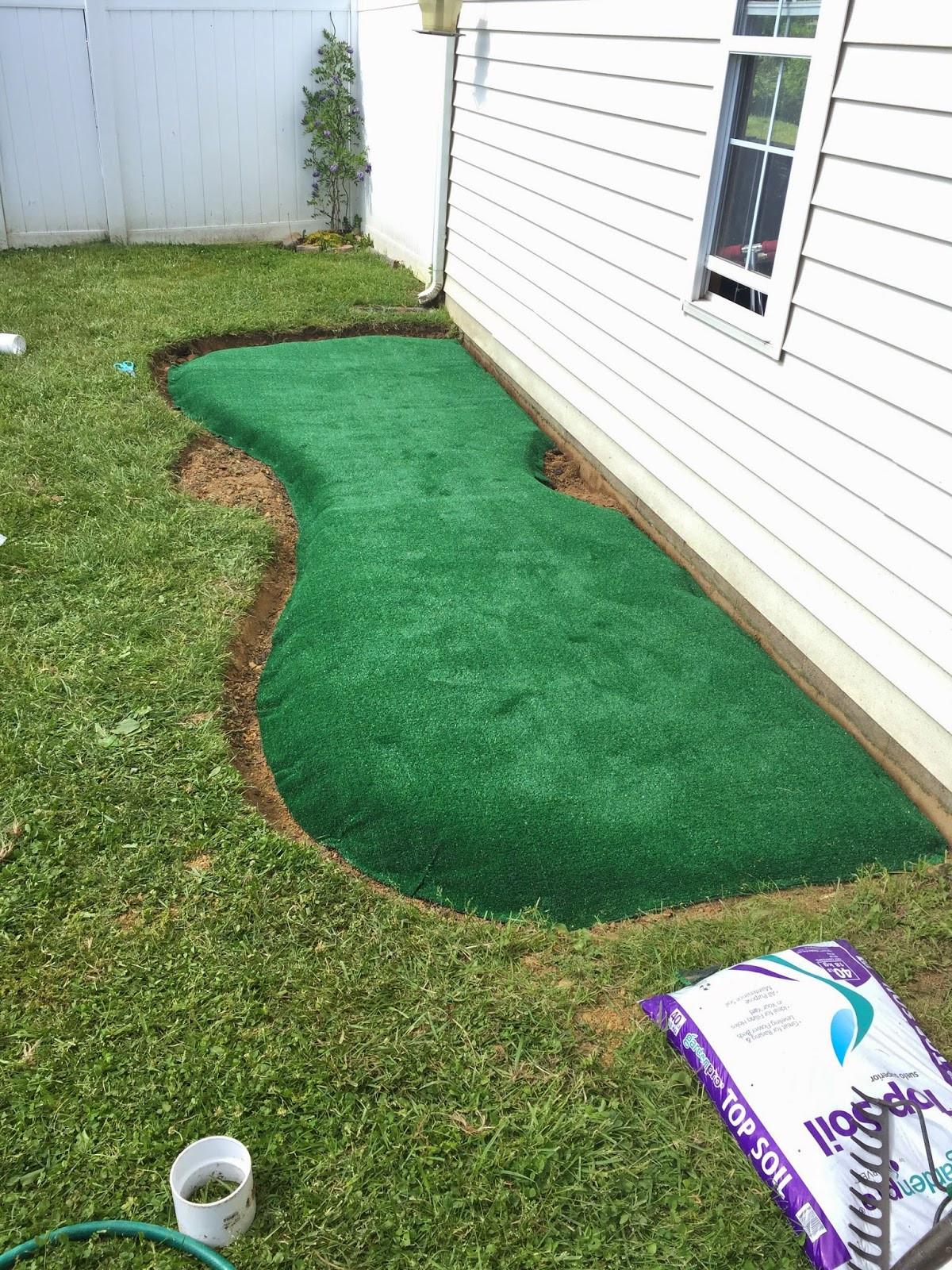Backyard Putting Green DIY  Little Bit Funky How to make a backyard putting green