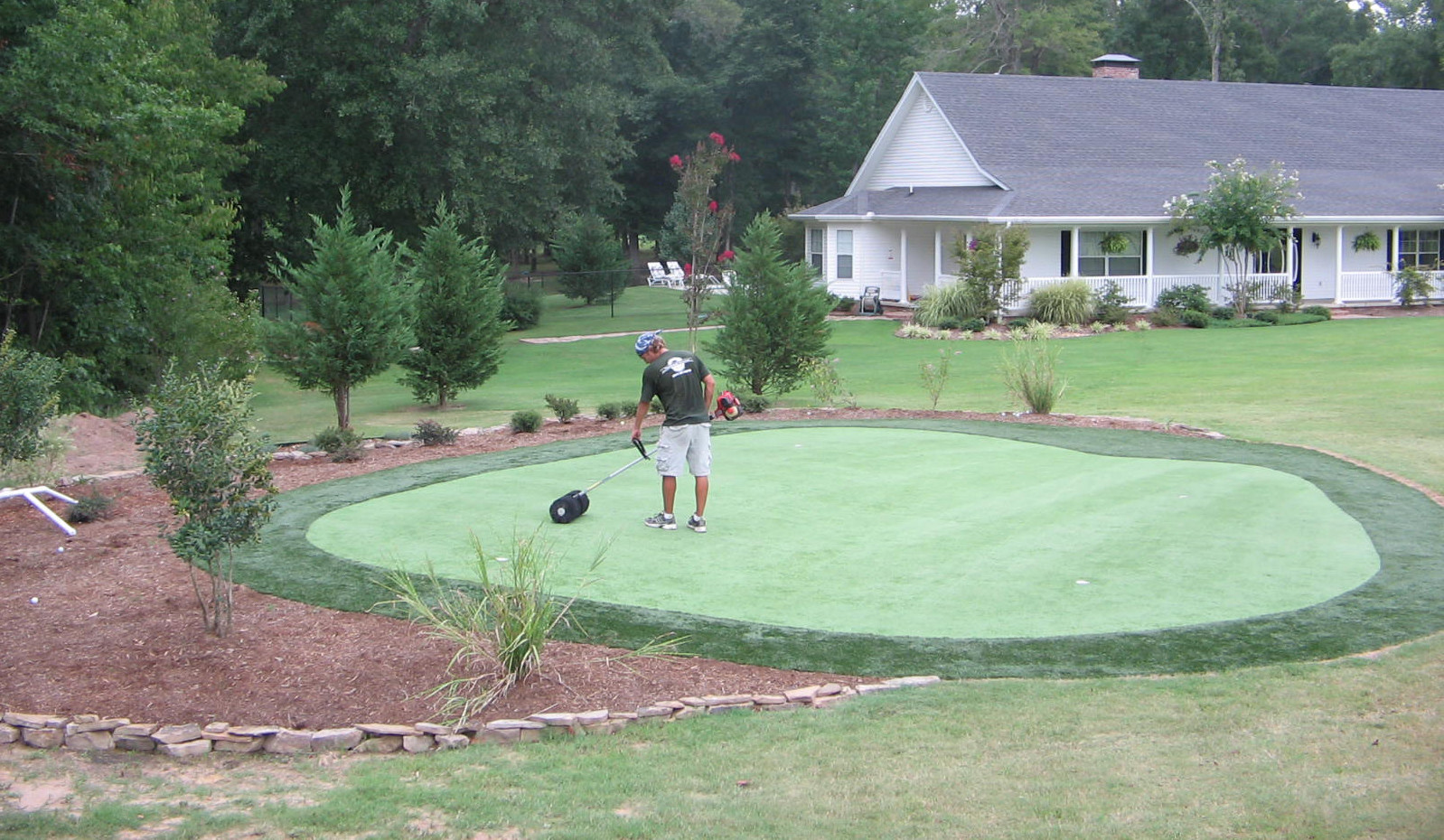 """Backyard Putting Green DIY  My Custom """"Do It Yourself"""" Synthetic Putting Green from"""