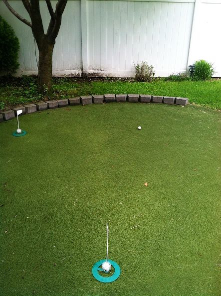 Backyard Putting Green DIY  Hometalk DIY Backyard Golf Green