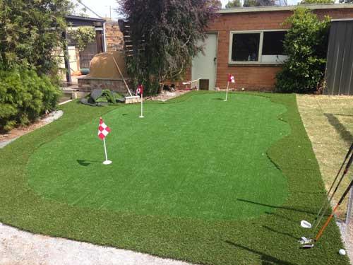 Backyard Putting Green DIY  [Case Study] A backyard DIY synthetic golf green