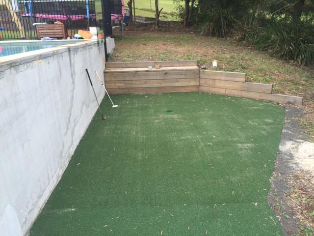 Backyard Putting Green DIY  An Amazing DIY Backyard Golf Green Synthetic golf greens