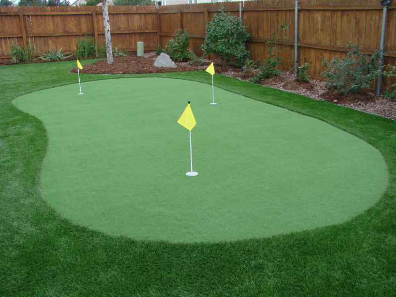 Best ideas about Backyard Putting Green . Save or Pin Golf Putting and Chipping Greens Four Seasons Landscaping Now.