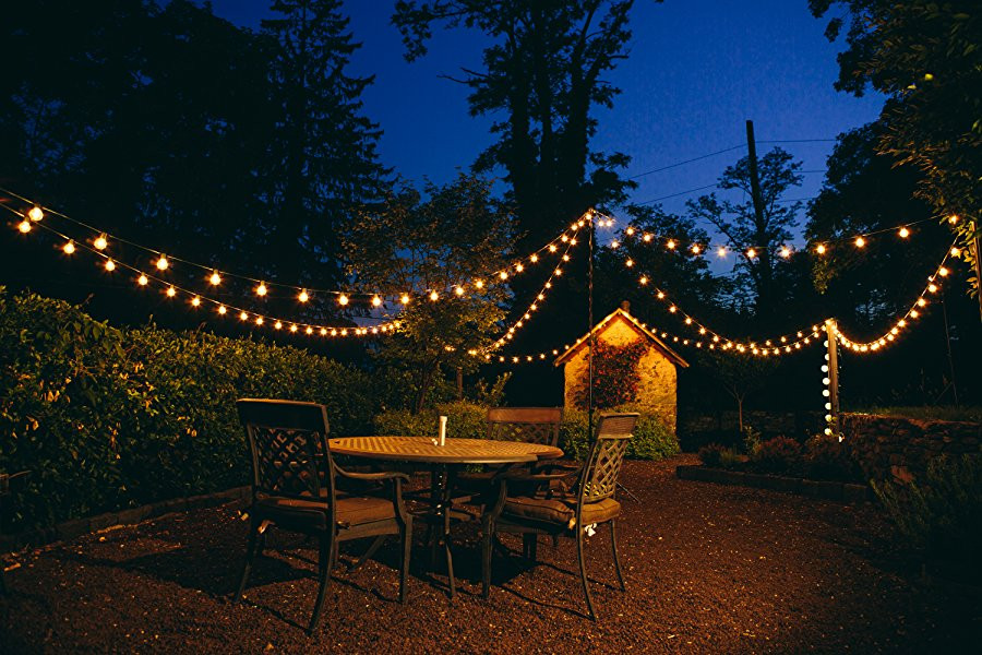 Best ideas about Backyard String Lights . Save or Pin Amazon 100 Foot G50 Patio Globe String Lights with 2 Now.