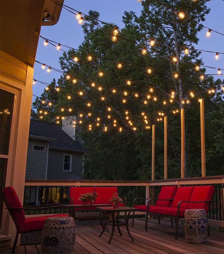 Best ideas about Backyard String Lights . Save or Pin How to Plan and Hang Patio Lights Now.