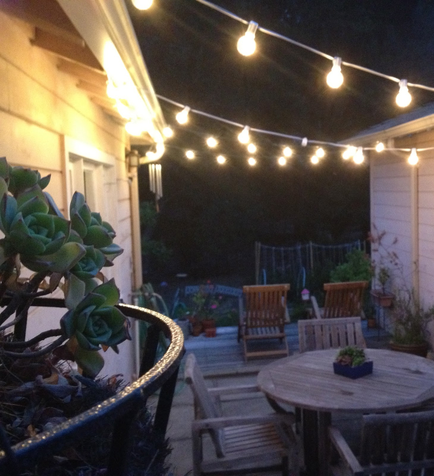 Best ideas about Backyard String Lights . Save or Pin Our Home Now.