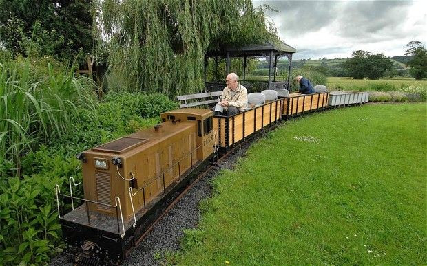 Best ideas about Backyard Trains For Sale . Save or Pin Accountant 80 puts railway through back garden Now.