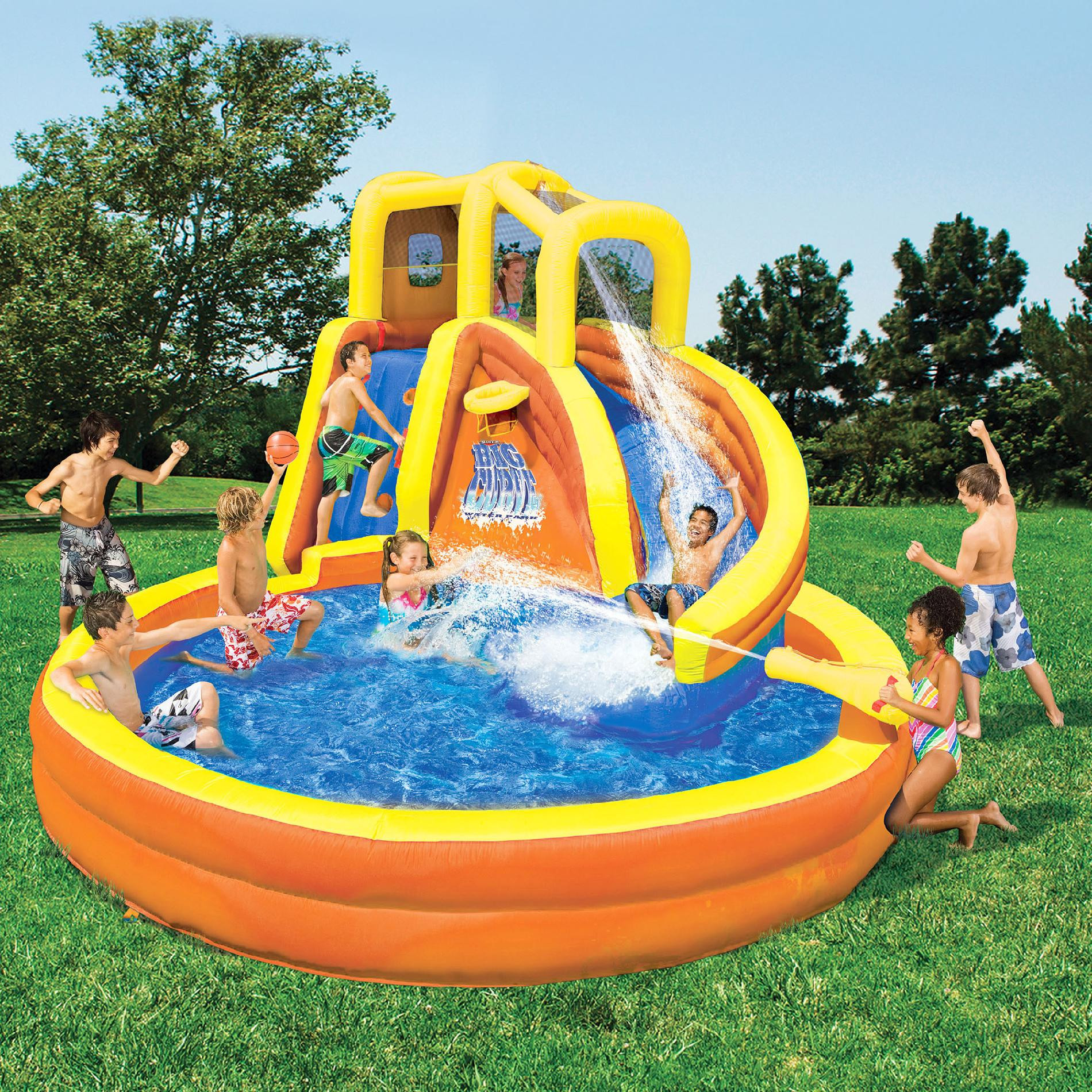 Best ideas about Backyard Water Toy . Save or Pin Banzai Typhoon Twist Water Slide Now.