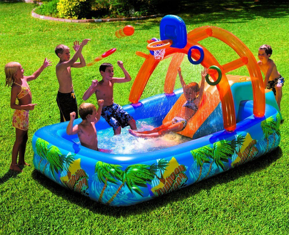 Best ideas about Backyard Water Toy . Save or Pin Inflatable Water Park Slide Pool mercial Bounce House Now.