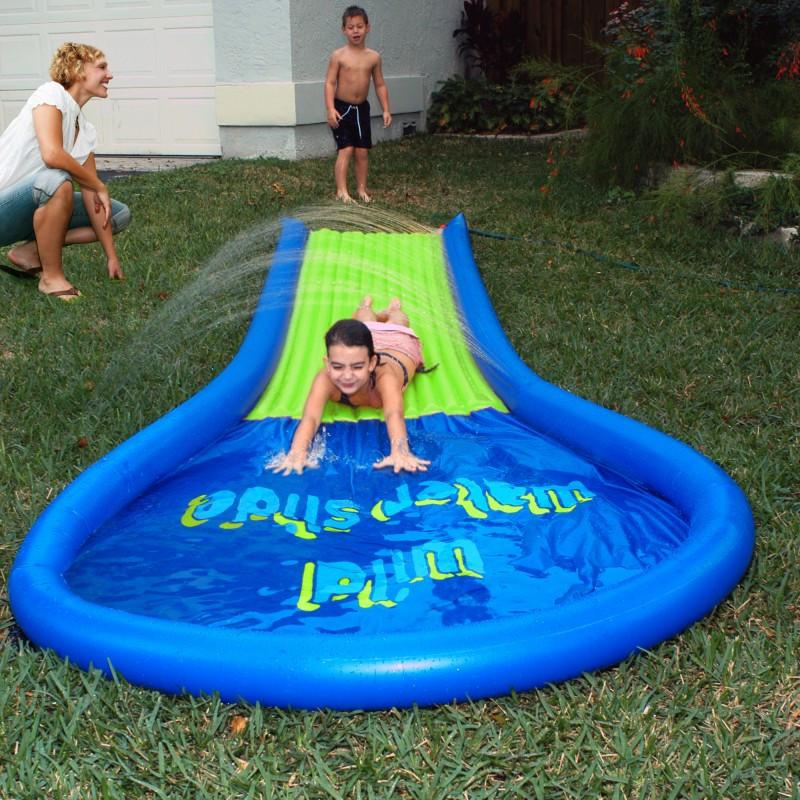 Best ideas about Backyard Water Toy . Save or Pin Backyard Wild Water Slide AV Now.