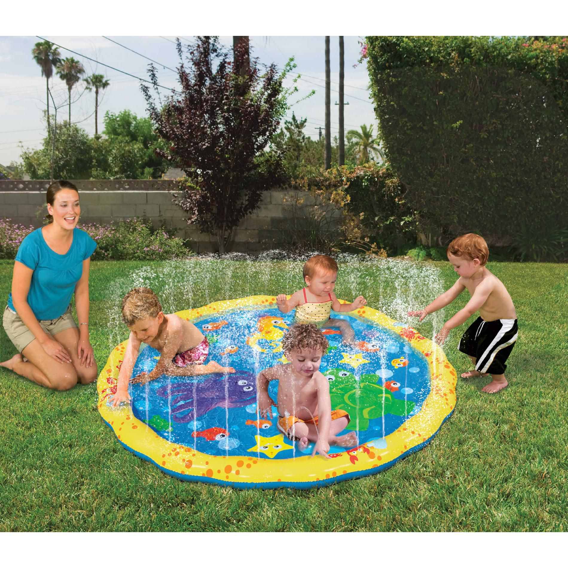Best ideas about Backyard Water Toy . Save or Pin Sprinkle 'N Splash Water Play Mat Backyard Toddler Toys Now.