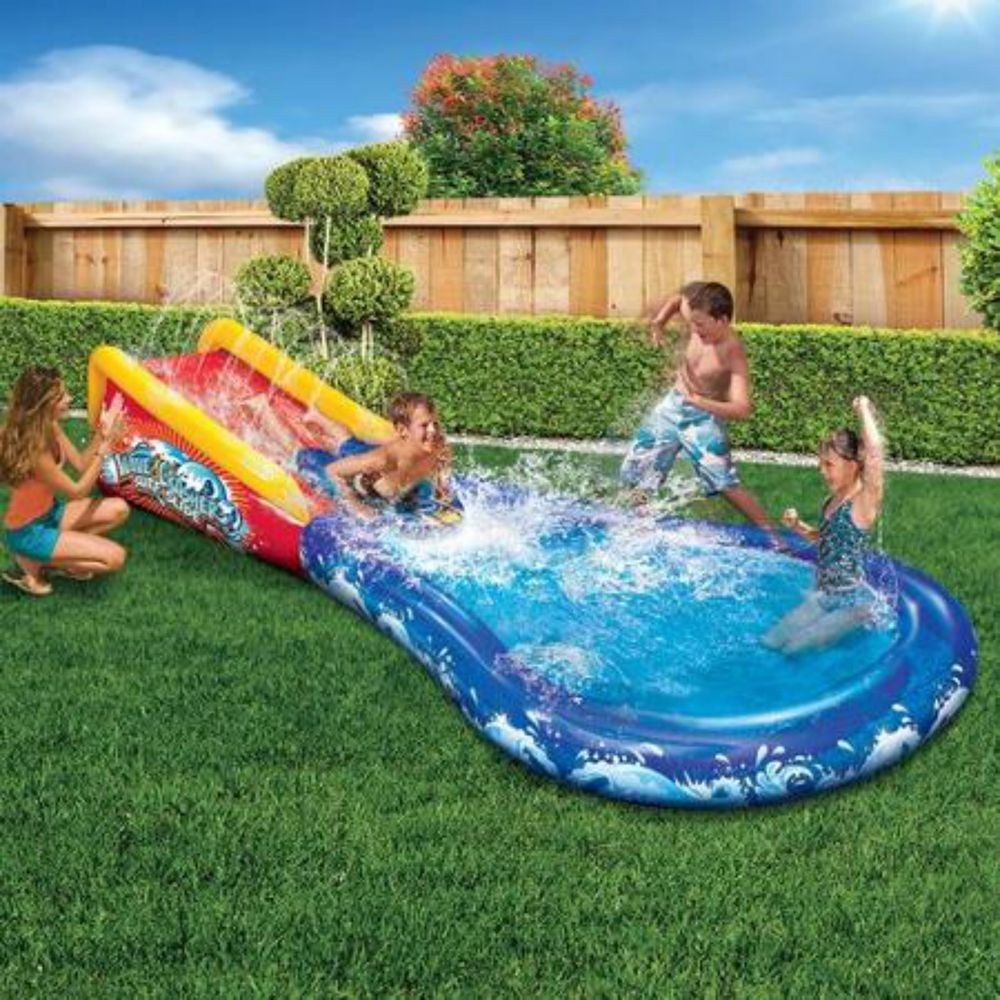 Best ideas about Backyard Water Toy . Save or Pin Kids Pool Outdoor Water Slide Inflatable Toys Inflated Now.