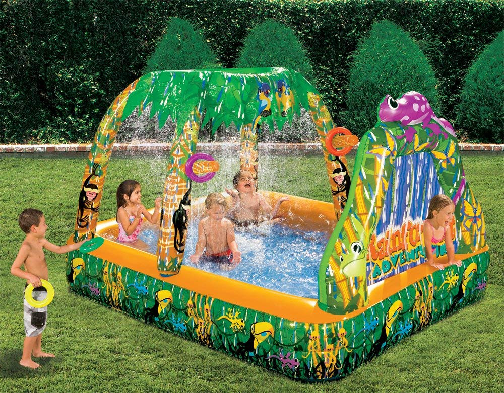Best ideas about Backyard Water Toy . Save or Pin Inflatable Water Swimming Pool Backyard Garden Rain Forest Now.
