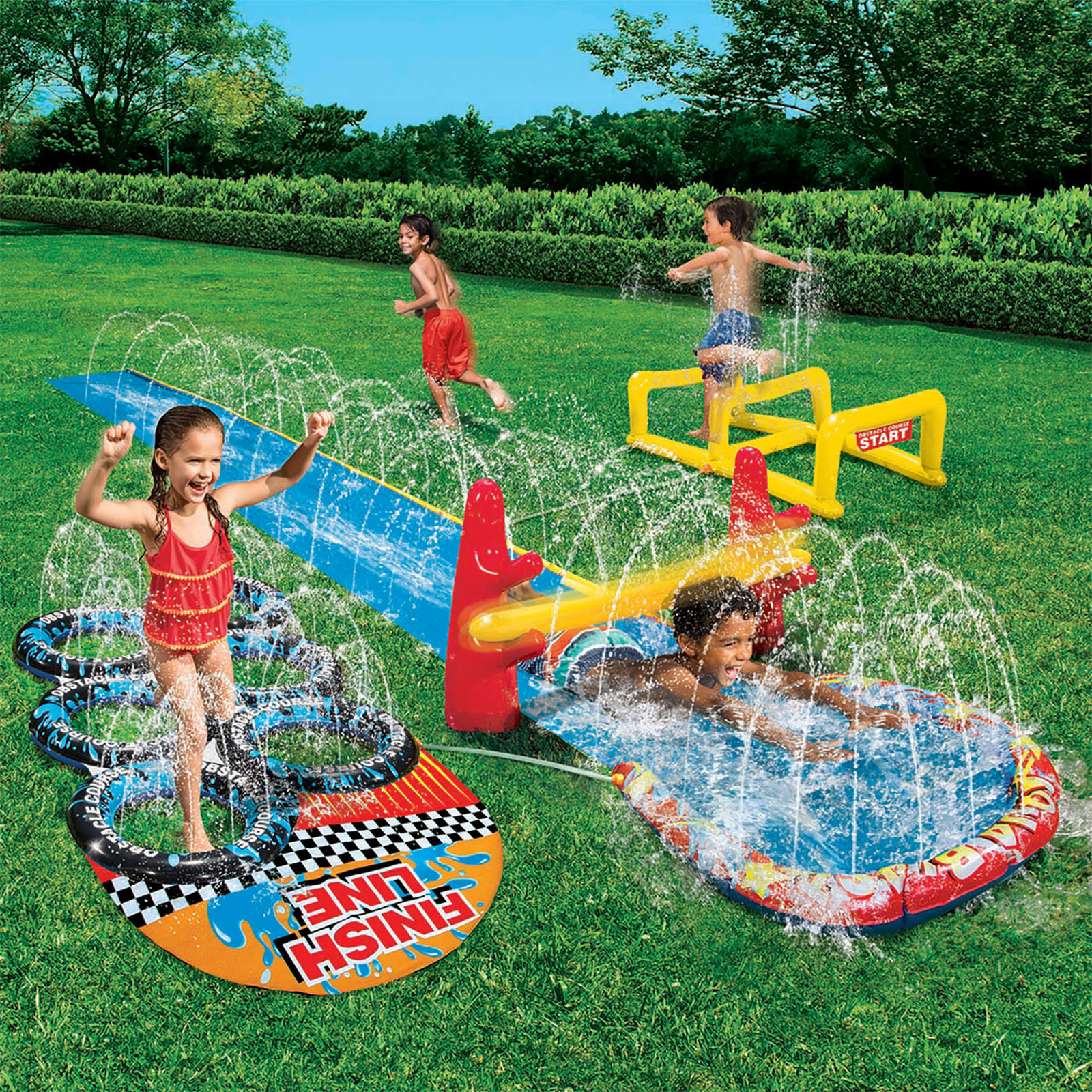 Best ideas about Backyard Water Toy . Save or Pin Banzai 16 Aqua Blast Obstacle Course Slide Toys & Games Now.