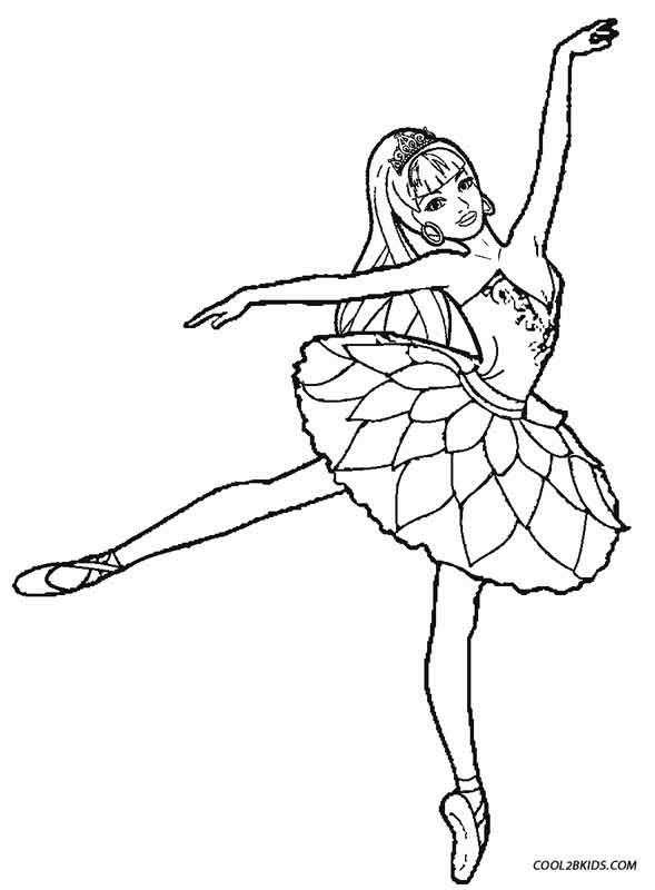 Ballarina Coloring Pages  Printable Ballet Coloring Pages For Kids