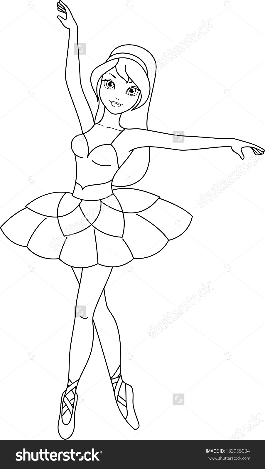 Ballarina Coloring Pages  Value Ballerina Colouring Page Mainstream Ballet Coloring