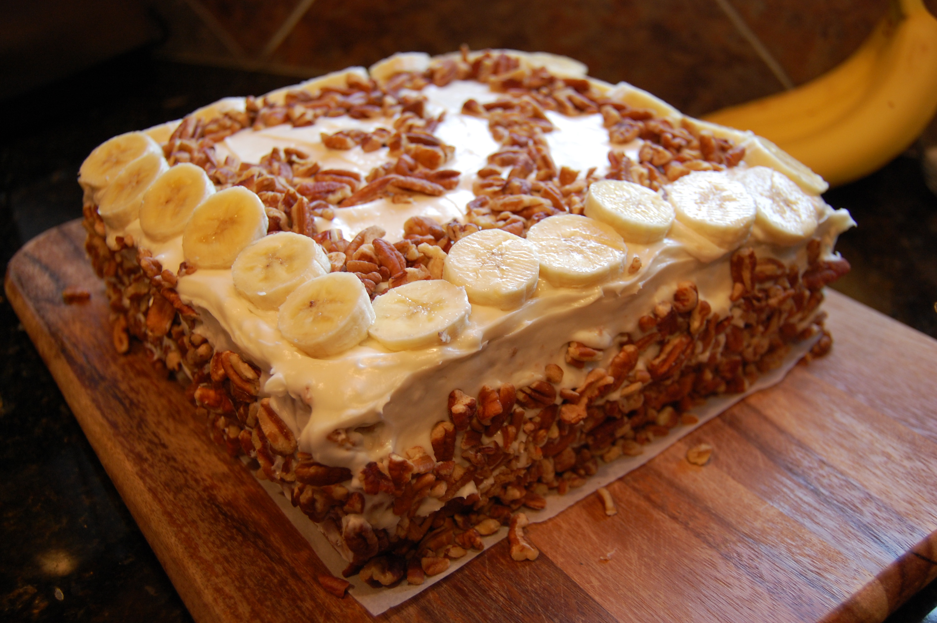 Best ideas about Banana Birthday Cake . Save or Pin Banana Birthday Cake with Cream Cheese Frosting and Pecan Now.