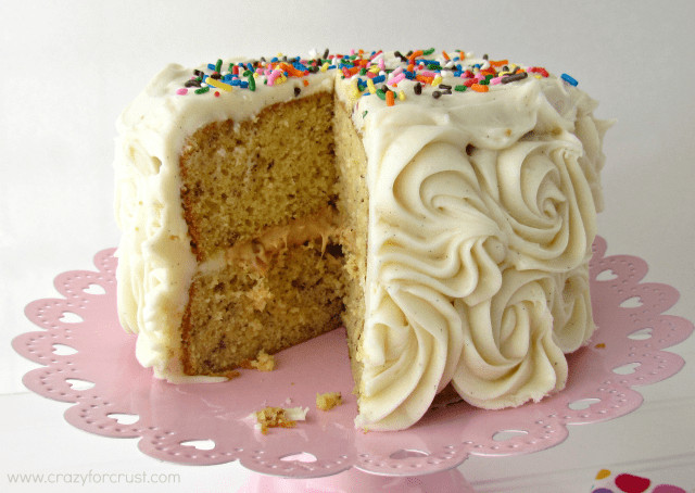 Best ideas about Banana Birthday Cake . Save or Pin Banana Cake with Caramel Filling Crazy for Crust Now.