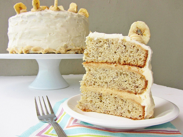 Best ideas about Banana Birthday Cake . Save or Pin Banana Layer Cake with Peanut Butter Cream Cheese Frosting Now.