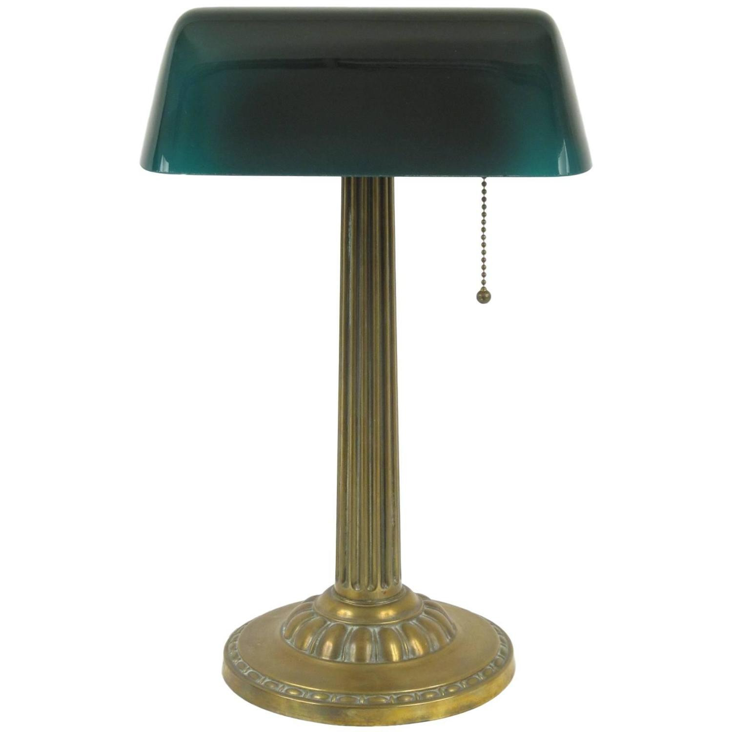 """Best ideas about Bankers Desk Lamp . Save or Pin Amronlite Green Glass Shade """"Bankers"""" Desk Lamp at 1stdibs Now."""