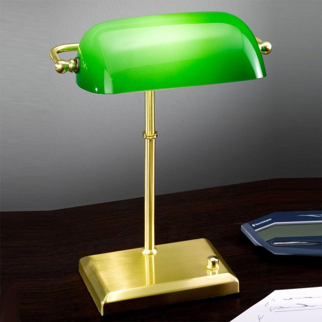 Best ideas about Bankers Desk Lamp . Save or Pin Green Desk Light Bankers Desk Lamp Craluxlighting Home Now.
