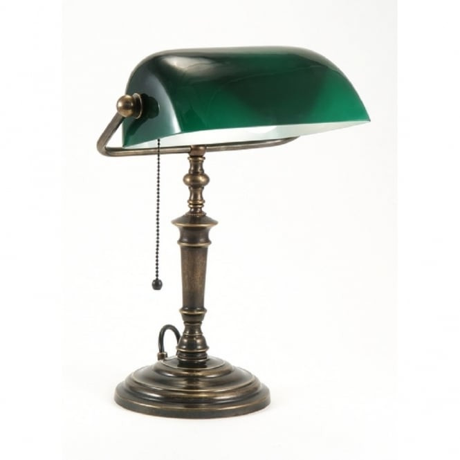 Best ideas about Bankers Desk Lamp . Save or Pin Traditional Bankers Desk Lamp with Green Shade Now.
