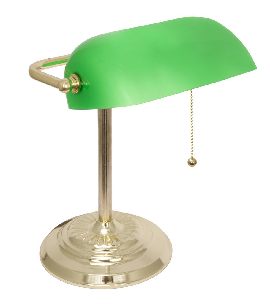 Best ideas about Bankers Desk Lamp . Save or Pin Adjustable Metal Bankers Desk Lamp with Glass Shade Now.