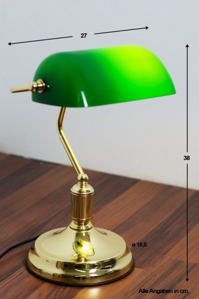 Best ideas about Bankers Desk Lamp . Save or Pin Bankers lamp with green shade brass finish office reading Now.